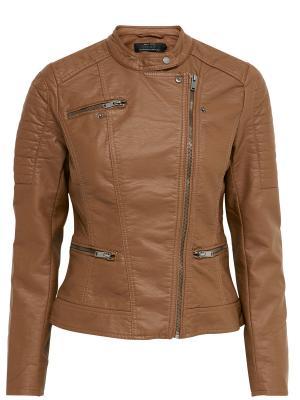 Куртка ONLY. Цвет: светло-коричневый