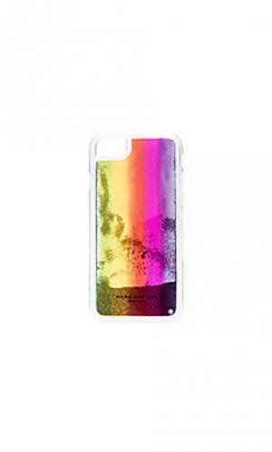 Чехол для iphone 7 glitter rainbow Marc Jacobs. Цвет: фиолетовый