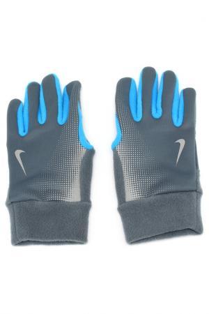 Перчатки для бега Nike. Цвет: голубой