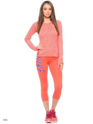 Лонгслив W NK THRMA SPHR ELMNT TOP CREW Nike. Цвет: оранжевый