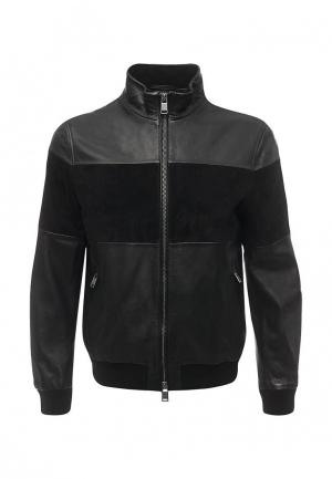 Куртка кожаная Boss Hugo. Цвет: черный