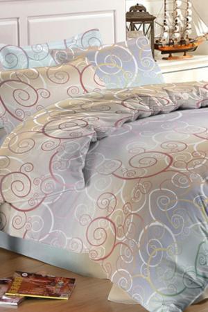 Постельное бельё евро 70x70 Французский стиль. Цвет: серый, бежевый