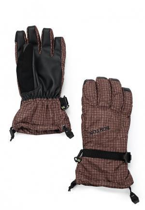 Перчатки горнолыжные Burton. Цвет: коричневый