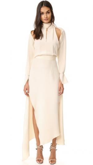 Платье Cecillia Juan Carlos Obando. Цвет: золотой