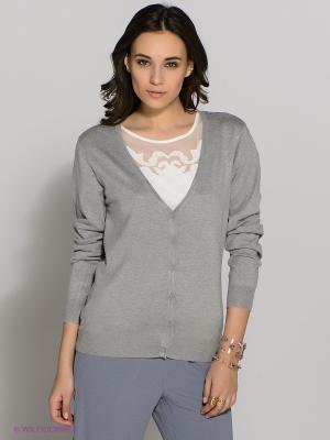 Кардиган Vero moda. Цвет: серый меланж