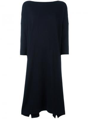 Расклешенное платье Daniela Gregis. Цвет: синий