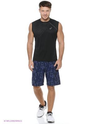 Шорты Woven Short 9-inch ASICS. Цвет: черный, белый, голубой