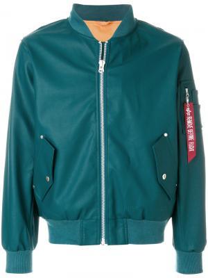 Куртка-бомбер Stutterheim. Цвет: синий