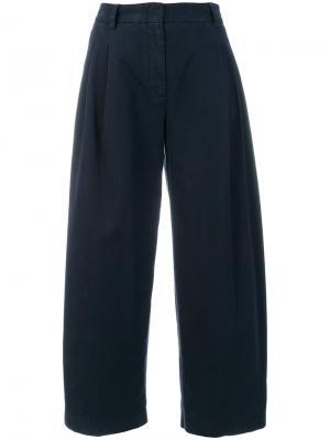 Широкие брюки Aspesi. Цвет: синий