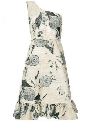 Платье на одно плечо с узором Co. Цвет: чёрный
