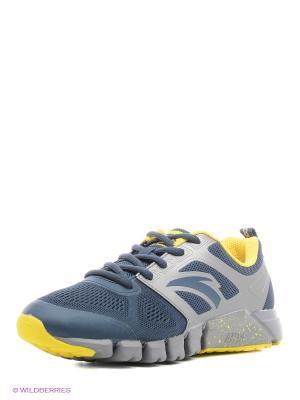Кроссовки ANTA. Цвет: темно-синий, серебристый, желтый