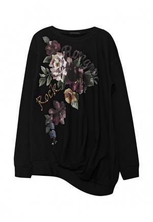 Свитшот Sisley. Цвет: черный