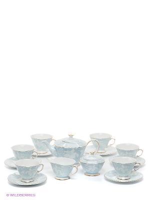 Чайный сервиз Фиоре Дорато Pavone. Цвет: светло-голубой