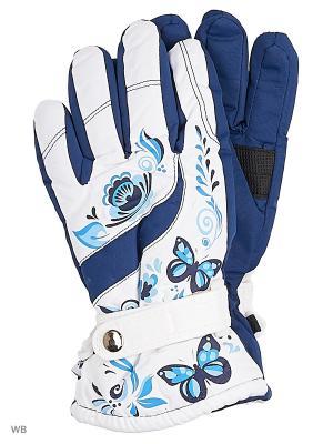 Перчатки Mini. Цвет: синий