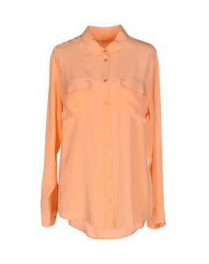 Pубашка EQUIPMENT FEMME. Цвет: лососево-розовый