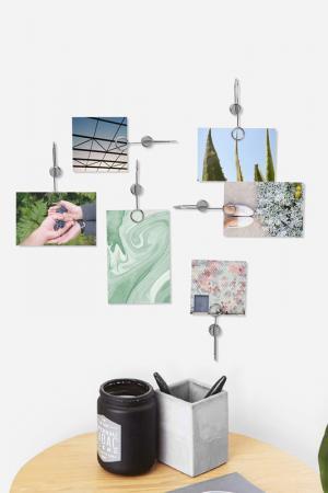 Держатели для фотографий UMBRA. Цвет: металлик