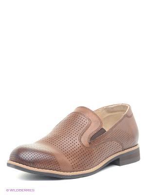 Туфли Bagira. Цвет: коричневый