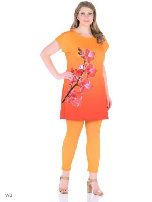 Костюм, модель Орхидея (туника+капри) Dorothy's Home. Цвет: оранжевый