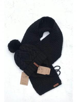 Комплект : шапка, шарф Sava. Цвет: черный