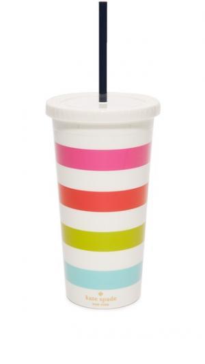 Термостакан с полосками цвета леденцов Kate Spade New York. Цвет: мульти