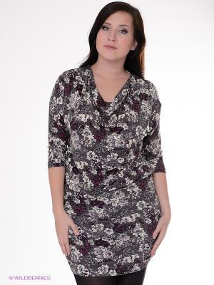 Платье Magnolica. Цвет: серый, молочный