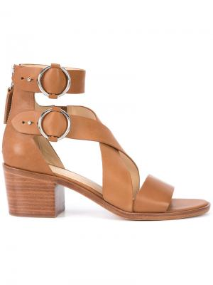 Cross strap sandals Rag & Bone. Цвет: коричневый
