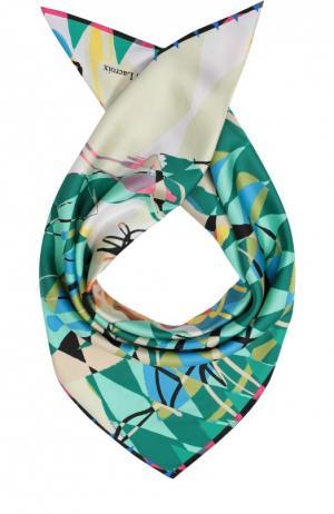 Шелковый платок с принтом Christian Lacroix. Цвет: зеленый