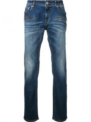Прямые джинсы Loveless. Цвет: синий