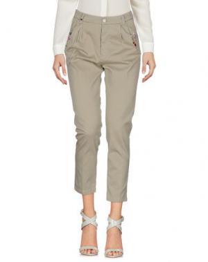 Повседневные брюки HISTORY. Цвет: серый