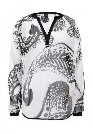 Блуза Desigual. Цвет: черно-белый
