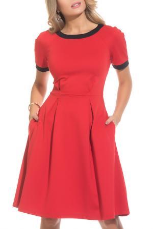 Платье Gloss. Цвет: красный, черный