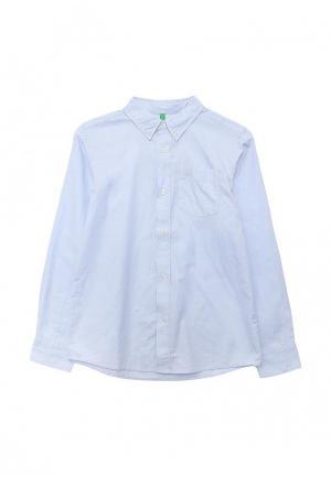 Рубашка United Colors of Benetton. Цвет: голубой