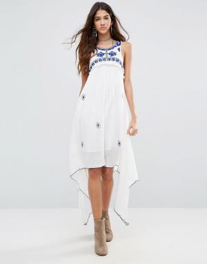 Raga Платье с каскадной драпировкой Santorini. Цвет: белый