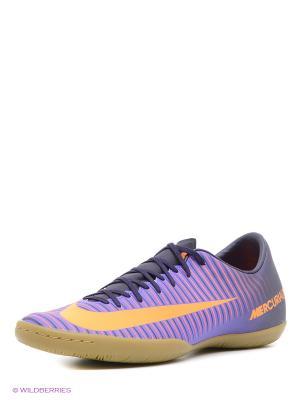 Бутсы MERCURIALX VICTORY VI IC Nike. Цвет: фиолетовый