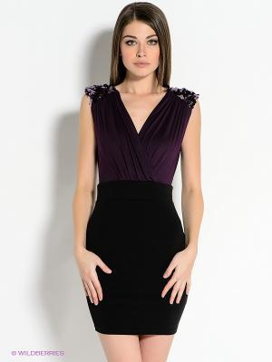 Платье AX Paris. Цвет: черный, фиолетовый