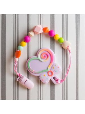 Игрушки-подвески Краски лета. Цвет: малиновый, оранжевый, розовый