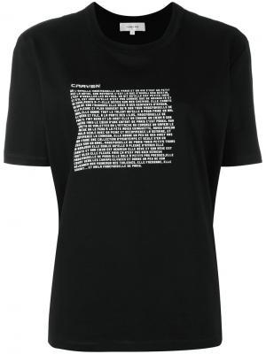 Graphic print T-shirt Carven. Цвет: чёрный