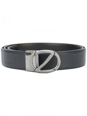 Pebbled logo belt Z Zegna. Цвет: синий