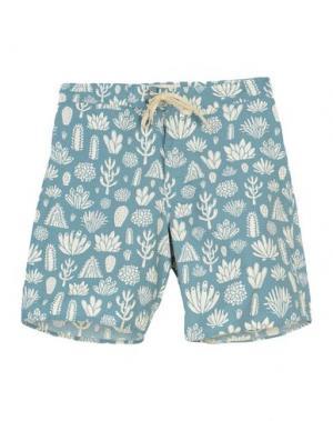 Пляжные брюки и шорты MOLLUSK. Цвет: цвет морской волны