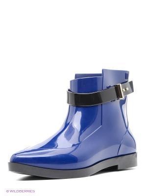 Резиновые сапоги Melissa. Цвет: синий