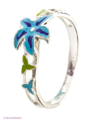 Кольцо Lovely Jewelry. Цвет: синий, зеленый