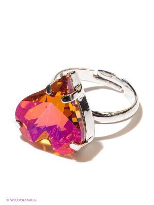 Кольцо Jenavi. Цвет: оранжевый, розовый, серебристый