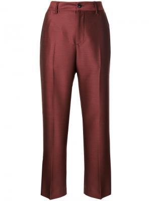 Укороченные классические брюки Closed. Цвет: красный