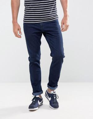 LDN DNM Выбеленные джинсы слим. Цвет: синий
