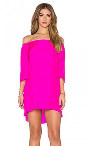 Мини платье nirvana Amanda Uprichard. Цвет: розовый