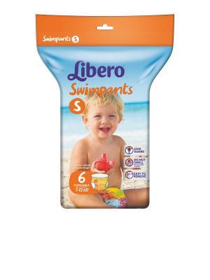 Libero Подгузники-трусики для плавания 7-12кг 6шт. Цвет: зеленый