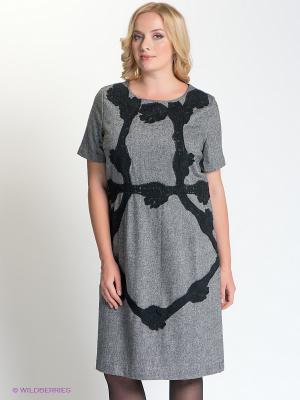 Платье LE MONIQUE. Цвет: серый, черный