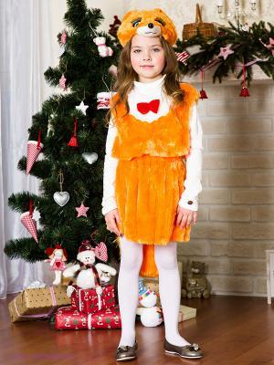 Карнавальный костюм Лисичка Волшебный мир. Цвет: оранжевый, белый