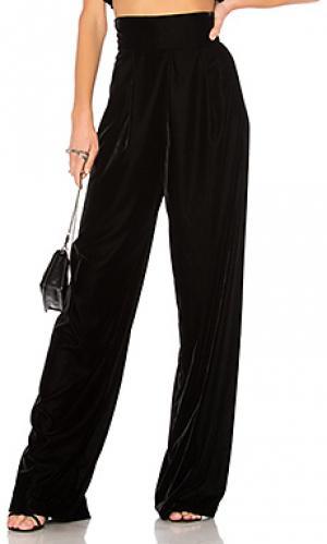 Широкие брюки vivian Petersyn. Цвет: черный