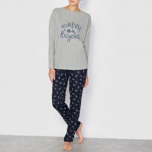 Пижама с длинными рукавами LOVE JOSEPHINE. Цвет: серый меланж